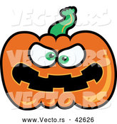 Vector of a Mad Cartoon Jackolantern by Zooco