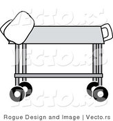 Vector of a Medical Gurney by Pams Clipart