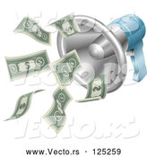 Vector of a Megaphone Shouting out Paper Money by AtStockIllustration