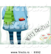 Vector of a Merry Christmas Greeting Gift Card by BNP Design Studio