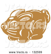Vector of a Milk Chocolate Easter Bunny by Andy Nortnik