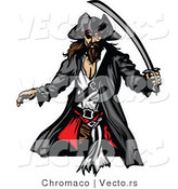 Vector of a Pirate with Sword by Chromaco