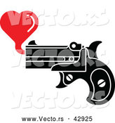 Vector of a Pistol Shooting a Red Love Hearts by Zooco