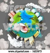 Vector of a Polluted Earth Coughing by Graphics RF