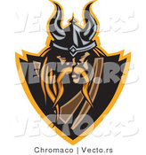 Vector of a Powerful Viking Warrior Icon by Chromaco