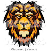 Vector of a Profiled Cartoon Male Lion Mascot by Chromaco