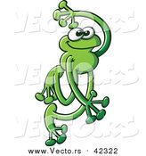 Vector of a Really Cute Green Frog - Cartooned Style by Zooco