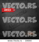 Vector of a Red 2013 over Happy New Year Stamped in Black Leather Background by Eugene