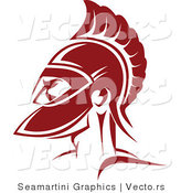 Vector of a Red Roman Soldier by Vector Tradition SM