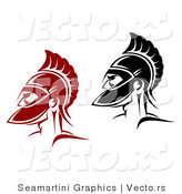 Vector of a Roman Soldiers - Red and Black Versions by Vector Tradition SM