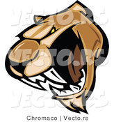 Vector of a Scary Cartoon Cougar Growling and Prepared to Attack by Chromaco