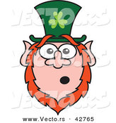 Vector of a Shocked St. Paddy's Day Cartoon Leprechaun by Zooco