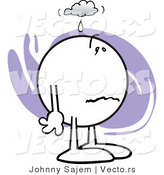 Vector of a Sick Cartoon Man Feeling Under the Weather by Johnny Sajem