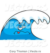 Vector of a Sick Cartoon Ocean Wave Character by Cory Thoman
