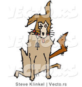 Vector of a Sick Dog Sitting and Panting by Steve Klinkel
