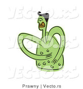 Vector of a Sick Man Rubbing His Green Aching Belly by Prawny