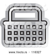 Vector of a Silver Shopping Basket by Lal Perera