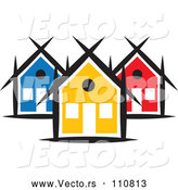 Vector of a Small Neighborhood of Colorful Houses by ColorMagic