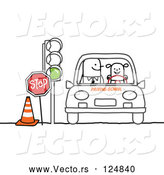 Vector of a Smiling Girl Learning to Drive in Drivers Ed by NL Shop