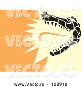Vector of a Snapping Alligator by Xunantunich