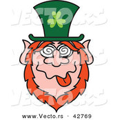 Vector of a St. Paddy's Day Cartoon Leprechaun with a Dazed Facial Expression by Zooco