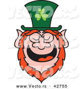 Vector of a St. Patrick's Day Cartoon Leprechaun Laughing by Zooco