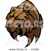 Vector of a Strong Competitive Brown Bear Mascot by Chromaco