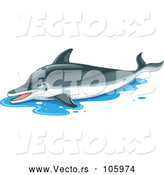 Vector of a Suffering Dolphin out of Water by Graphics RF