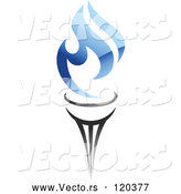 Vector of a Torch with Blue Gas Flames by Vector Tradition SM