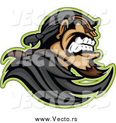 Vector of a Tough Bandit Mascot in Profile by Chromaco