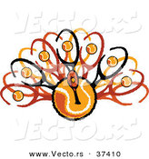 Vector of a Turkey Tennis Ball Design by Chromaco