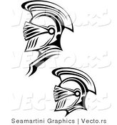 Vector of a Two Roman Soldiers - Line Drawing by Vector Tradition SM