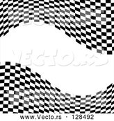 Vector of a Waving Race Flag Background on White - Version 9 by MilsiArt