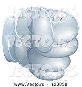 Vector of a White Glove Fist by AtStockIllustration