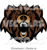 Vector of a Wild Bear Roaring by Chromaco