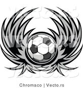 Vector of a Winged Soccer Ball Design by Chromaco
