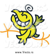 Vector of a Yellow Chicken Running by Zooco