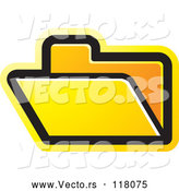 Vector of a Yellow File Folder Icon by Lal Perera