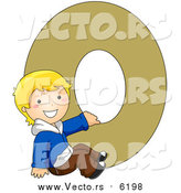 August 25th, 2017: Vector of a Young Boy Beside Alphabet Letter O by BNP Design Studio