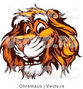Vector of a Young Cartoon Tiger with Friendly Smile by Chromaco