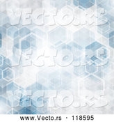 Vector of Abstract Blue Hexagon Background by KJ Pargeter