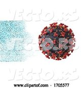 Vector of Abstract Medical Background with Covid 19 Virus Cell by KJ Pargeter