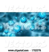 Vector of Abstract Medical Banner with Covid 19 Virus Cells by KJ Pargeter