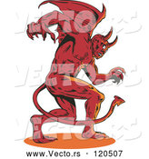 Vector of Aggressive Winged Demon or Devil by Patrimonio