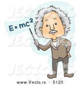 Vector of Albert Einstein Teaching E Equals Mc Squared Mean by BNP Design Studio