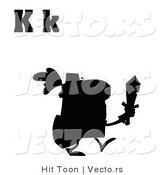 Vector of Alphabet Letter K Above Silhouetted Knight by Hit Toon