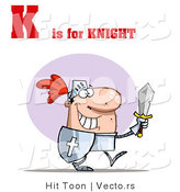 Vector of Alphabet Letter K Is for Knight by Hit Toon