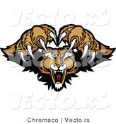 Vector of an Alpha Cougar Mascot Protecting His Territory During an Attack by Chromaco