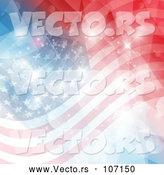 Vector of an American Flag Background with Flares by KJ Pargeter