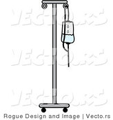 Vector of an IV Fluid Stand by Pams Clipart